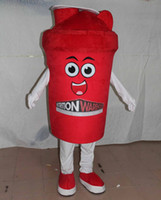 Wholesale red cup mascot costume for adult