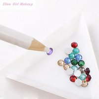 Wholesale Dotting Tools White Nail Art Rhinestones Gems Picking d Design Painter Pencil Pen Dotting Tools Kit