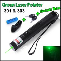 Wholesale nm Powerful Green Red Laser Pointers Pen Laser Light Focus Battery Retail Box Burning Match Teaching
