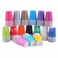 Wholesale Disposable paper cup thickening Color paper cups Solid cup Holiday Party Wedding cup CM