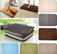 Wholesale Non Slip Back Rug Soft Bathroom Carpet Memory Foam Bath Mat Coffee New