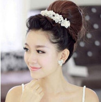 Wholesale Hair accessories jewelry hair girlfriend romantic wedding dress bridal jewelry handmade pearl crystal