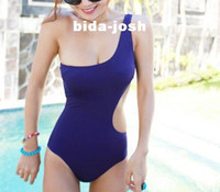 bathing suit body - fashion One Shoulder Cut Out Padded Swimsuit Swimwear sexy Bathing suit swimming wear One Pieces Monokini bikini