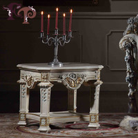 Wholesale antique hand carved wood furniture luxury royal home furniture