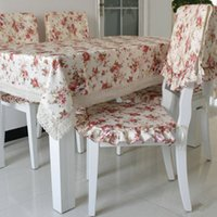 Wholesale Rustic square table cloth circle cloth dining table cloth tablecloth dining chair covers set cushion dining chair