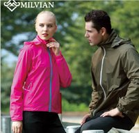 Wholesale milvian the new outdoor sport hooded male and female nylon solid fast dry breathable cycling jackets