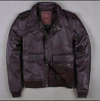 air force services - Fall United States Air Force A A2 spot Leather Jacket Mens Leather engraved Air Force pilot service locomotive jacket M XL new
