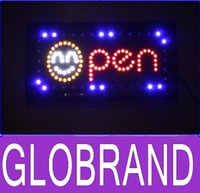 Wholesale 2016 hot sale custom led open neon sign size cm cm semi outdoor for the shop is opening new GLO648