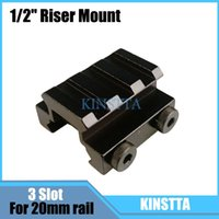 Wholesale KINSTTA quot Slot Low Riser mm Weaver Picatinny Rifle Short Side Rail Base Airsoft Riser Laser Scope Mount Rail Accessories