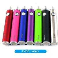Wholesale Evod battery mah mah battery Kanger evod twist battery mt3 tank mini protank e cigarette VS ego battery DHL