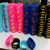 band superman - Vape band decoration silicone rings with Superman Batman Flash Captain America Logo various colors to protect rda rba rta tank atomzier mods