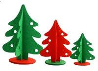 Wholesale 3Sizes Christmas Trees Non woven stereoscopic Xmas tree Ornaments cm