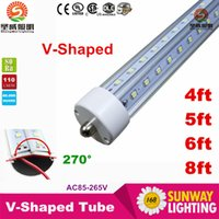 Cheap T8 8 feet single pin led Best 28W/36W/42W/65W SMD 2835 8ft led tube
