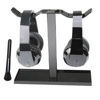 acrylic speaker stands - MOCREO Universal Headphone Hanger Headphone Stand Acrylic Headphone Stand Support Rack Display For Headphones Black