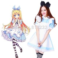 alice in wonderland apron - Alice in Wonderland Lolita Princess Dress Apron Dress Maid Outfit Halloween Cosplay Costume School Uniform