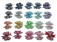 Wholesale 2016 Hot Sell Summer Style Grosgrain Ribbon printing Hair Bow Girl Boutique Bow Baby Hairbows with Clip Kids Hair Accessories