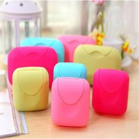 Wholesale Leakproof Portable Soap Dishes Travel Home Plastic Soap Box with Cover Soap Container Bathroom Accessories B0244