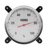 Wholesale High Temperature measuring stainless steel Indoor Outdoor Thermometer Hygrometer sauna bath laboratory Weather Station use