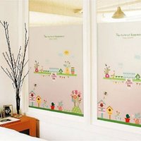 Wholesale 60x120cm Large Window Film Cartoon Cars Frosted Glass Film Privacy Door Bedroom Bathroom Glass Decor