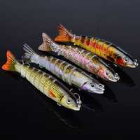 Wholesale Hot cm g Multi Jointed Bass Plastic Fishing Lures Swimbait Sink Hooks Tackle high quality fishing lures DHL