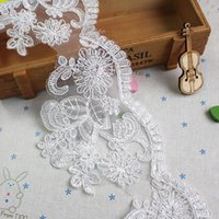 Wholesale Hot sell cm wide bone spur embroidered organza embroidered white car Lace accessories DIY fashion wedding dress skirt high quanlity