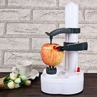 automatic potato peelers - Multifunction Automatic Stainless Steel Electric Fruit and Vegetables Apple Peeler with Two Spare Blades Potato Peeling Machine