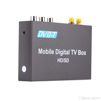 Wholesale DVB T Mini Various Channel Mobile Car Digital TV Box Analog TV Tuner High Speed km h Strong Signal Receiver with Antenna