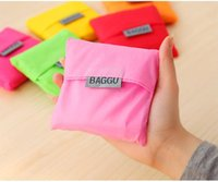 Wholesale BAGGU Tote Bags Candy Colors Reusable Shopping Bag Portable Folding Pouch Bag Handbag colors Christmas Gifts Environment Safe Go Green