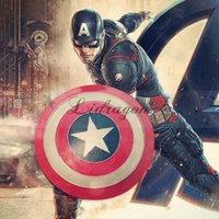 alliance lighting - DHL Fedex Free Captain America Shield Avengers Super Heroes Shield with Sound LED Light Halloween Avengers Alliance Cosplay Shield Lumious