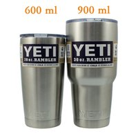 Wholesale Yeti oz Rambler Tumbler Bilayer Stainless Steel Insulation Cup OZ Cups Cars Beer Mug Large Capacity Mug Tumblerful Yeti Cooler Cup