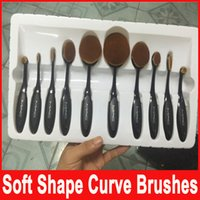 accessories black cosmetic - Makeup Brush Toothbrush Oval Makeup Tool Powder Foundation Kits Cream Powder Blush Brushes Beauty Tools Cosmetic Accessories Sets