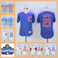 Wholesale Men s World Series Champions patch Chicago Cubs Jerseys Sammy Sosa Blue White Pinstripe Turn Back Throwback Baseball Jerseys Cheap
