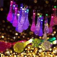 luces led al aire libre de la gota del agua del led para el patio exterior jardn hogar trayectoria decoracin de la navidad