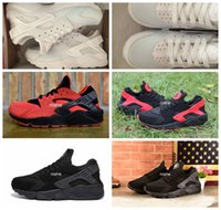 athletic sports mesh fabric - Classical Huaraches Running Shoes For Women Men Top Quality Air Huarache White Black Athletic Sport Sneakers Eur