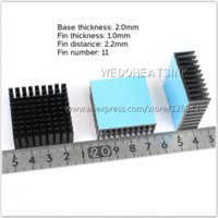 bear network - x35x14mm Aluminum Network Routers Heatsink Black Anodize Radiator With Blue Thermal Pad For IC and Chipset