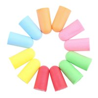 Wholesale Soft Foam Ear Plugs Tapered Travel Sleep Noise Prevention Earplugs Noise Reduction For Travel Sleeping Random Color