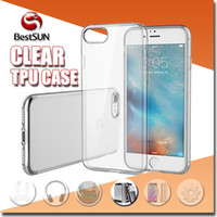 Wholesale Clear TPU cases For Iphone plus SE transparent Crystal Clear soft gel Silicon ultra thin Case For Samsung galaxy S7 S6 note5