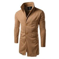 Wholesale New Arrival Men Winter Trench Turn Down Collar manteau homme long trench coat men High Quality mens overcoat