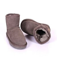 australian baby shoes - New Fashion Children Shoes Genuine Leather Boys Boot Toddler Baby Snow Boots Australian Classic Winter Girls Sheepskin Boots For Kids