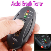 Wholesale Dropship Prefessional Police Digital Breath Alcohol Tester battery the Breathalyzer Parking Car Detector Gadget Gadgets Meter