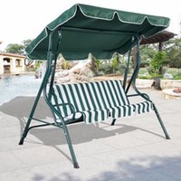 awnings outdoor furniture - 3 Person Patio Swing Outdoor Canopy Awning Yard Furniture Hammock Steel Green OP2573 FDS
