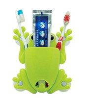 Wholesale Cute Cartoon Animal Pocket Wall Gecko Lizard Gecco Frog Sucker Toothbrush Holders Suction Hooks Bathroom Set Accessories Eco Friendly
