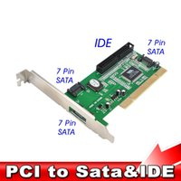 1pcs de haute qualité New 3 ports SATA + IDE Serial ATA HDD PCI Card Converter Adapter pour Data Rate PC Tablet Computer 1.5Gb /