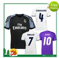 Wholesale 2016 The latest and best quality Thai version Real Madrid home away second men s soccer jersey