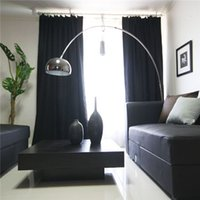 Wholesale Backdrop Curtain Stage Blackout Contemporary And Contracted Style Black Solid Color Light Custom Curtain Cloth Project Meter Shading