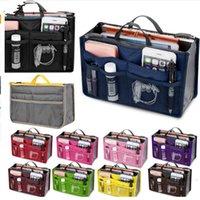 Wholesale Fashion Women Multifunction Organizer Bag Woman Travel Cosmetic Bag Makeup Insert Pouch Toiletry Handbag Storage Bag Colors