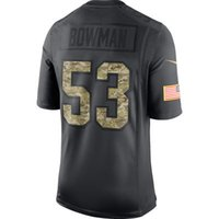 anthracite color - Men s ers NaVorro Bowman Anthracite Salute to Service Jersey Color Rush Limited Jersey