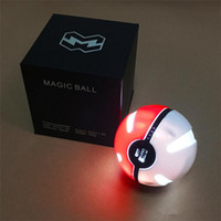 Wholesale Pokeball mAh Phone Charger USB Large Battery Capacity Poke Mon Power Banks LED Light Powerbank Phone Chargers For iPhone Samsung