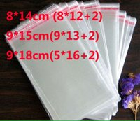 Wholesale Promotion cm cm cm flap seal self adhesive seal poly bag opp packaging clear Plastic bag