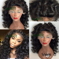 Cheap Synthetic Lace Front Wig For Black Women DEEP Wavy Short Bob Wig With Baby Hair High Quality Heat Resistant Lace Front Synthetic Wigs